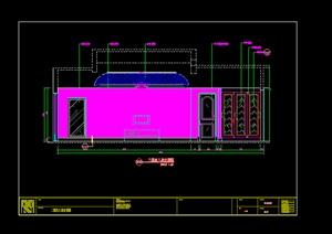某别墅房间立面图设计CAD图纸参考