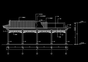 某仿古自行车棚设计CAD施工图