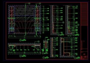 某客房背景墙装饰设计施工图