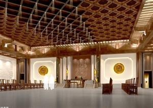 浙江安福寺寺院装饰设计施工图(带效果图)