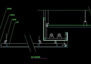 某建筑住宅空间金属顶棚设计CAD施工图