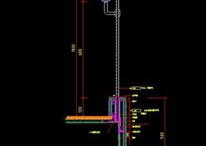 玻璃與大理石制作的樓梯欄桿設計CAD施工圖