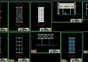 多款建筑连廊设计CAD施工图