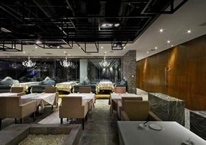 某诺米丁餐厅装饰设计施工图及效果图
