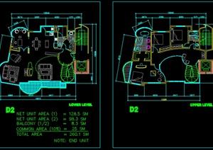 某栋别墅建筑设计方案图