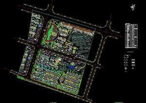 小区建筑规划设计总平面图