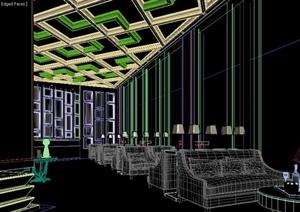 某现代休闲咖啡吧装修设计3DMAX模型