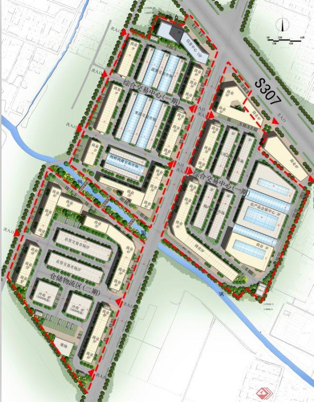 涡阳某农产品物流园规划设计方案文本(含CAD+PPT)(1)