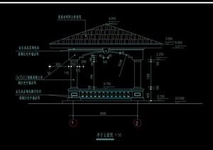某凉亭景观设计CAD施工图