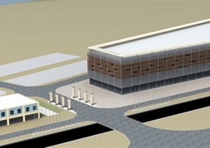 现代风格装饰城建筑设计3dmax模型