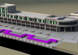 某装饰城建筑设计3DMAX模型