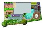 英式花园设计平面布置图