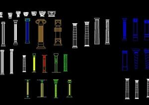 多款欧式柱体设计CAD图