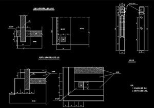 观景平台立柱构造详图