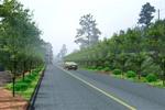 贵州某公路绿化景观设计标段三示意图