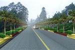 贵州某公路绿化景观设计标段四示意图