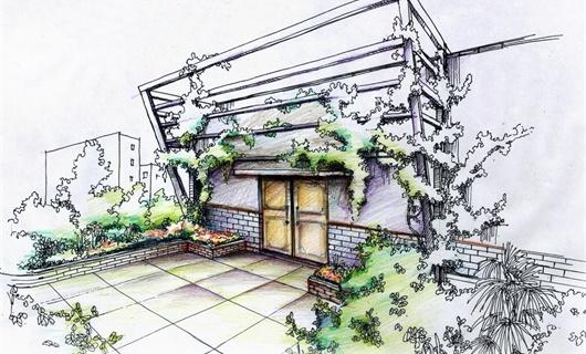 昆明市某区工会屋顶花园景观方案