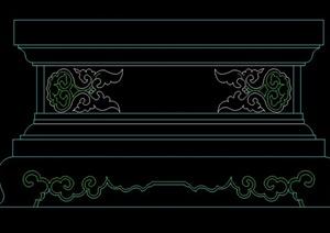 柱子基座设计立面图