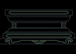 柱子基座立面图