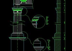 园林景观陶立克柱子设计图