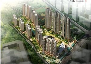 武汉某居住区建筑景观规划设计方案文本