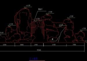 多款假山置石设计CAD图