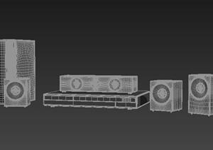 室内家电音响组合3dmax模型