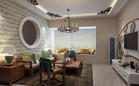 小户型中式风格室内空间设计