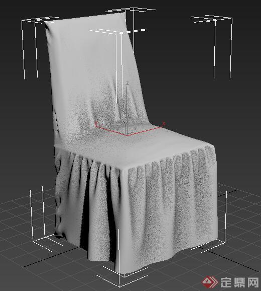 玄关鞋柜3d模型_单个现代椅子3DMAX模型
