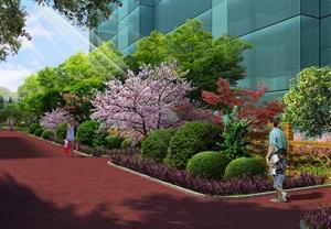 小区楼前庭院绿化设计