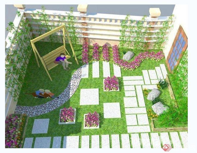 多款庭院花园景观设计方案与实景图(3)