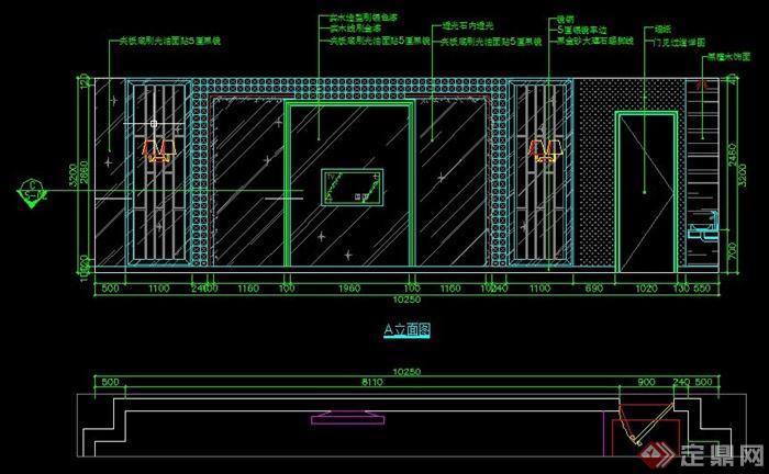 某现代KTV包房室内设计方案图(含效果图)(4)