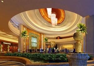 昆山丽景国际酒店装饰设计CAD施工图(附效果图)