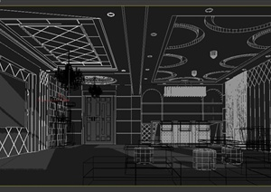 某现代电视台室内设计3DMAX模型