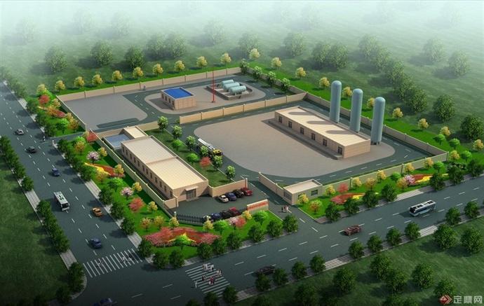 新疆液化石油气公司鸟瞰图