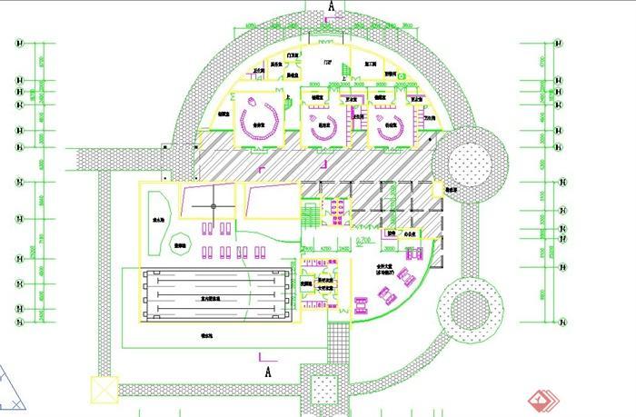 某会所幼儿园室内布置设计平面图(1)
