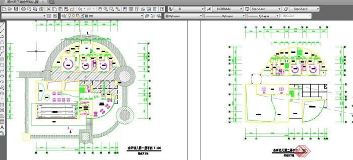 某会所幼儿园室内布置设计平面图(3)