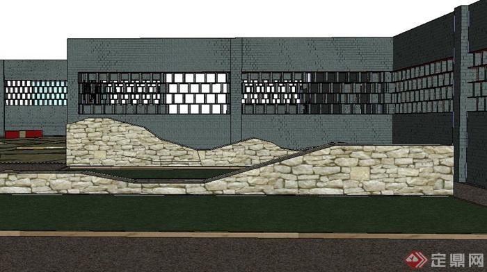 现代某植物园入口景观设计SU模型(4)