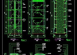建筑室内常用柱体设计CAD施工图