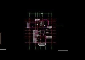别墅建筑设计CAD平面图