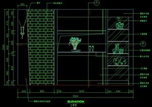 室内装饰住宅空间cad立面图