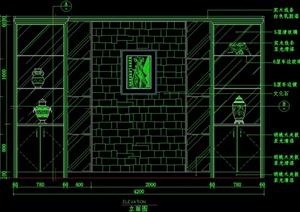 装饰墙设计CAD平面图