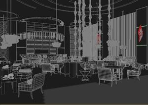 某现代咖啡吧装修设计3DMAX模型