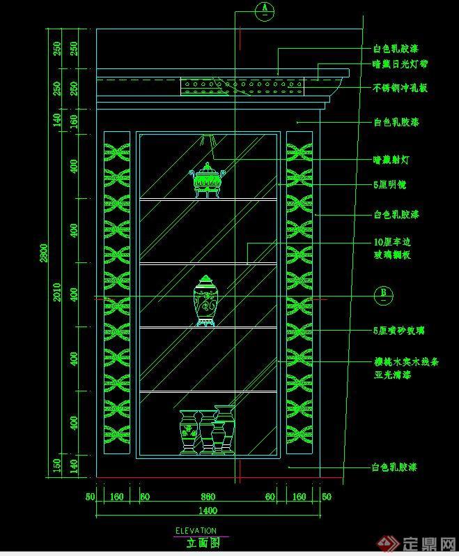 室内装饰墙设计CAD立面图(1)