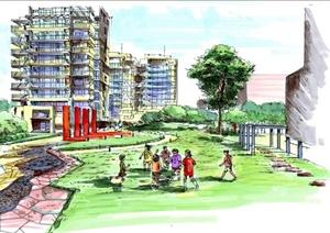 现代某未名园小区建筑和景观设计方案