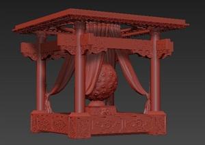 中式风格景观凉亭3DMAX模型