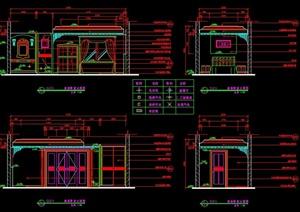 某住宅空间套房室内设计立面图