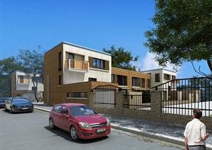别墅建筑设计3DMAX模型(附效果图)