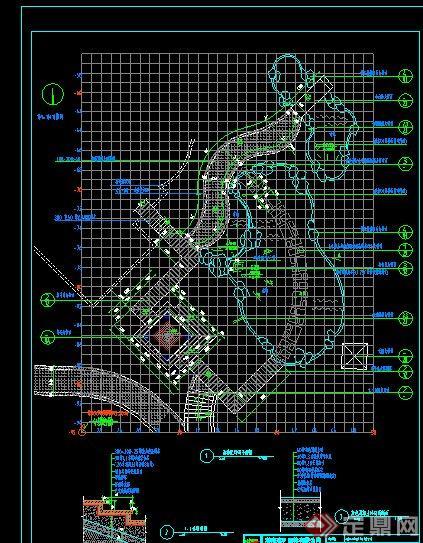 某水景池塘设计CAD施工图(1)