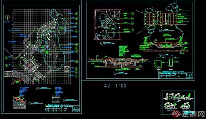 某水景池塘设计CAD施工图(2)